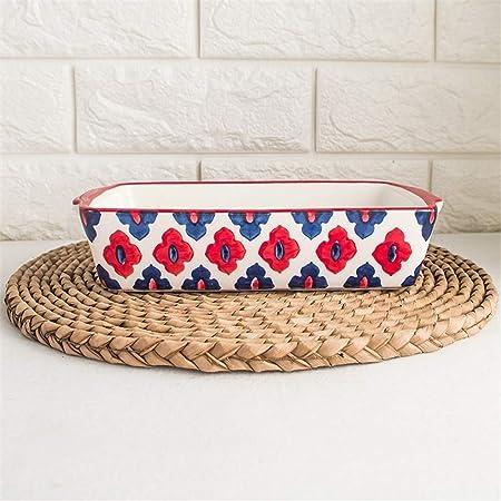 Warm zjyhpm - Fuente de Horno Ovalada de cerámica para Queso de ...