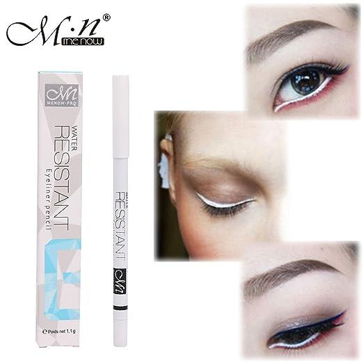 Beauty Essentials Eyeliner Lovely Menow Eye Makeup Set Eyeliner Pencil Waterproof Beauty Eyes Liner Lip Sticks Cosmetics Rose Red Blue White Matte Eyeliner Traveling