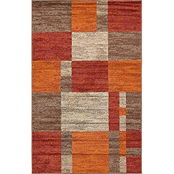 Amazon Com Unique Loom Autumn Collection Checkered