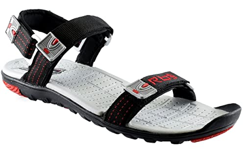 d6a2c29d8 JNG RBS Men Black Sandal - Size 10 UK  Buy Online at Low Prices in India -  Amazon.in