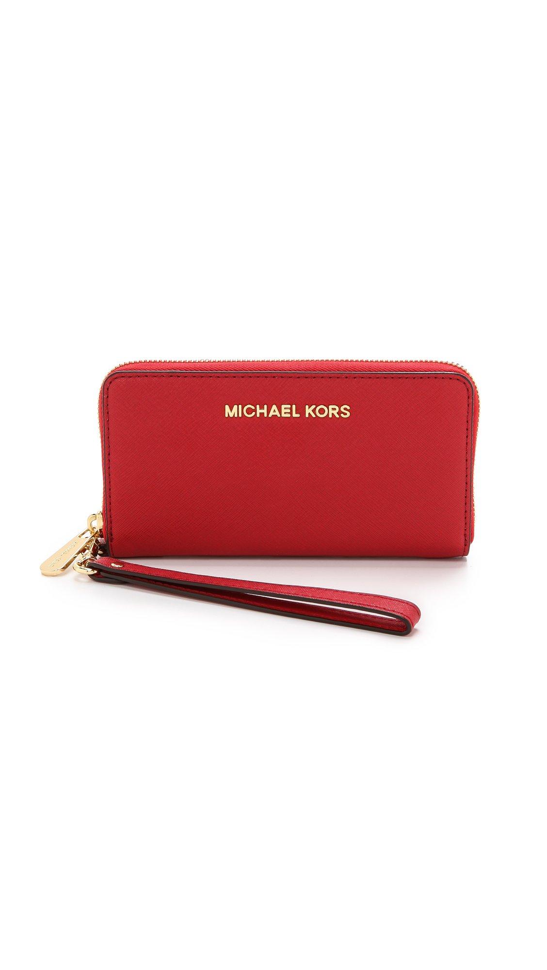 MICHAEL Michael Kors Women's Jet Set Travel Phone Case, Red, One Size by MICHAEL Michael Kors