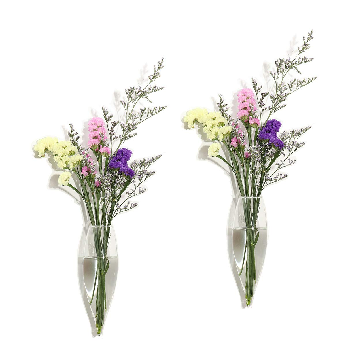 Ivolador 2PCS Icepick-shaped Wall Glass Hanging Planter for Propagating Hydroponic Plants