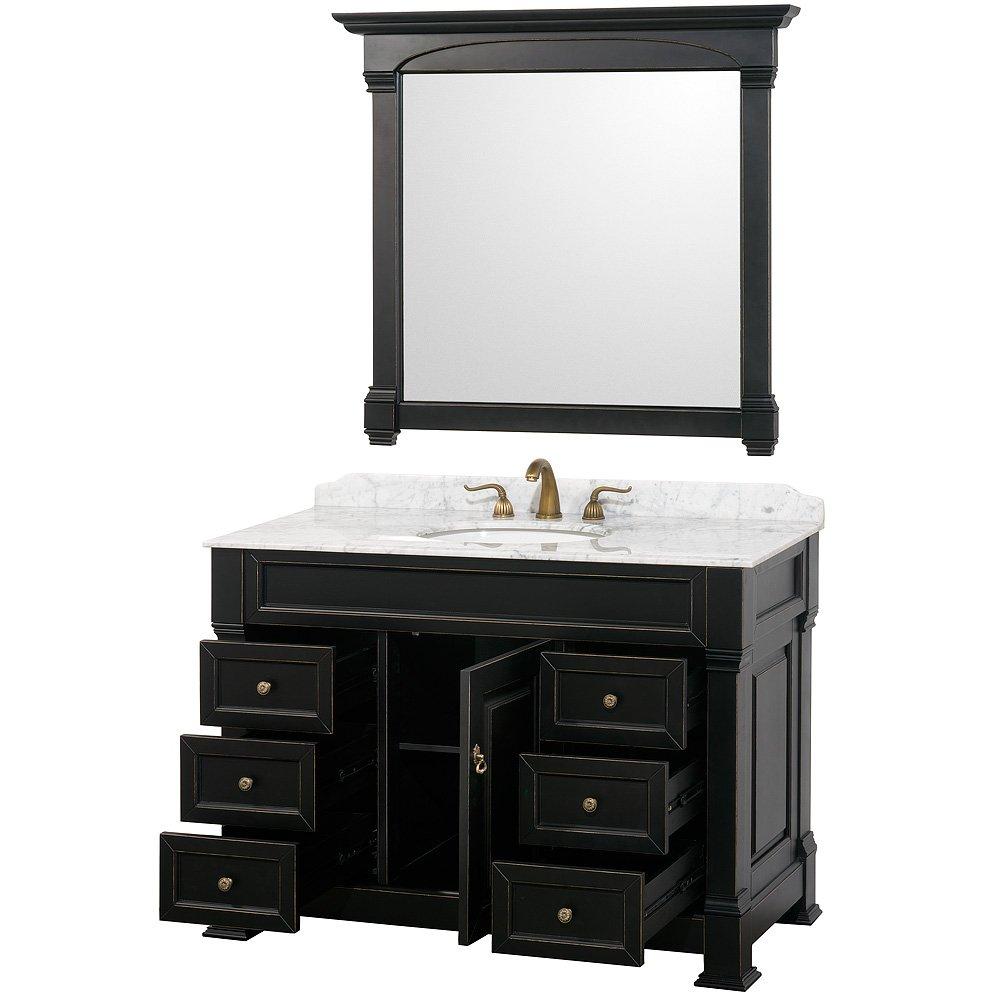 Wyndham Collection Andover 48 inch Single Bathroom Vanity in Antique ...