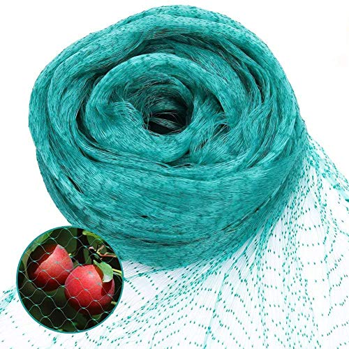 Green Anti Bird Protection Net (13.2Wx39.4L(Ft)) Mesh Garden Plant Netting Protect Plants and Fruit Trees from Rodents Birds Deer Best for Seedlings,Vegetables,Flowers, Fruits,Bushes,Reusable Fencing by Skedee