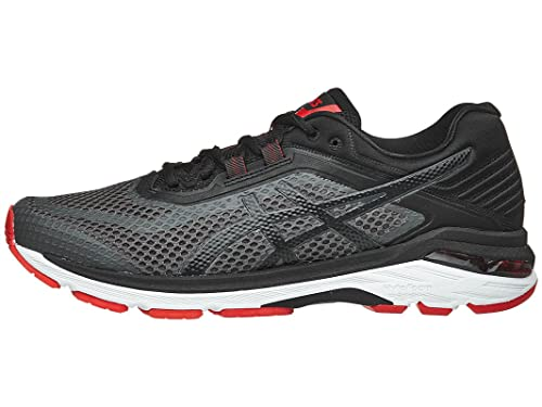 ASICS Men's GT 2000 6 Shoe Dark GreyBlackFiery Red: Amazon