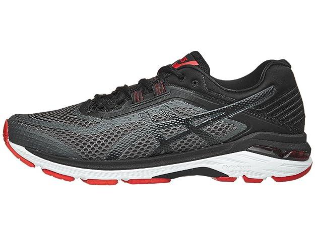 ASICS Men's GT-2000 6 Running Shoe, Dark Grey/Black/Red, 8 M US