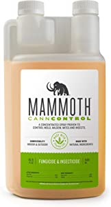 Mammoth CANNCONTROL Concentrated Insecticide Spray for Plants, Natural Fungicide Miticide Insecticide Spider Mites Spray for Indoor Outdoor Plants ELIMINATES Powdery Mildew Whiteflies Thrips (500 mL)