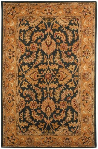 Safavieh Heritage Collection HG628A Handcrafted Traditional Oriental Dark Green and Gold Wool Area Rug (3