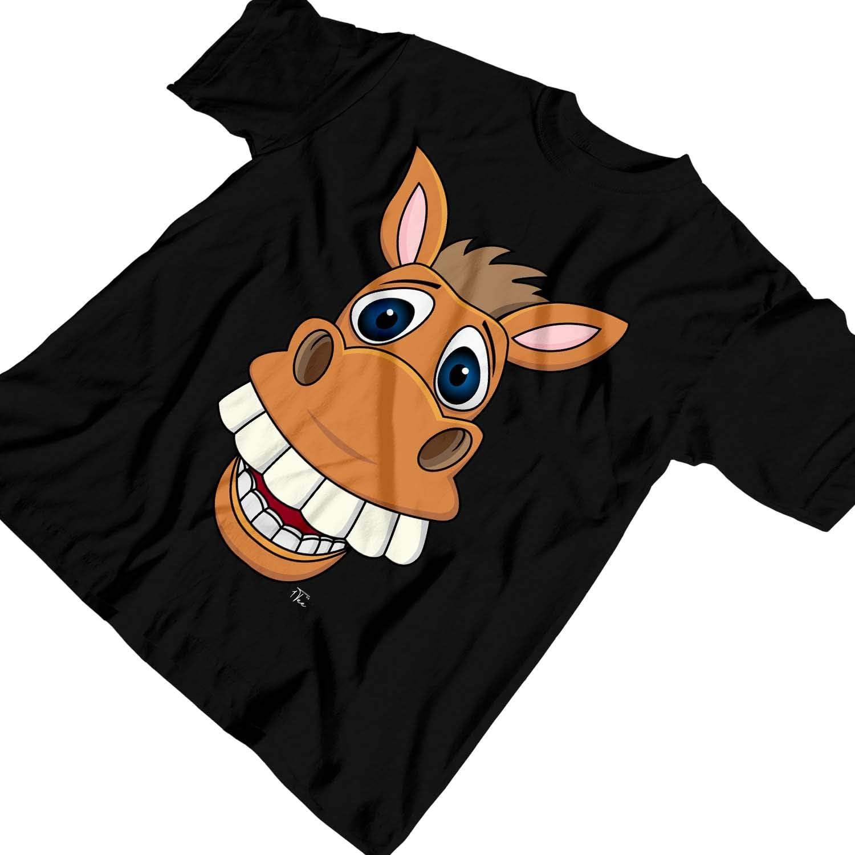 1Tee Kids Boys Smiling Donkey Cartoon T-Shirt
