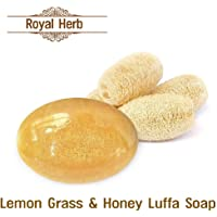 Royal Herb Luffa Soap Bar (Lemongrass and Honey) to Clean Dark Spots and Stretch