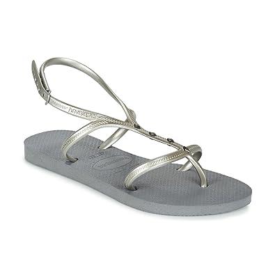 2abd4e25b Havaianas Allure Maxi Sandals Grey  Amazon.co.uk  Shoes   Bags