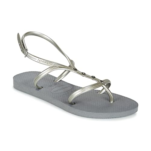ab21344194f3a Havaianas Allure Maxi Sandals Grey  Amazon.co.uk  Shoes   Bags