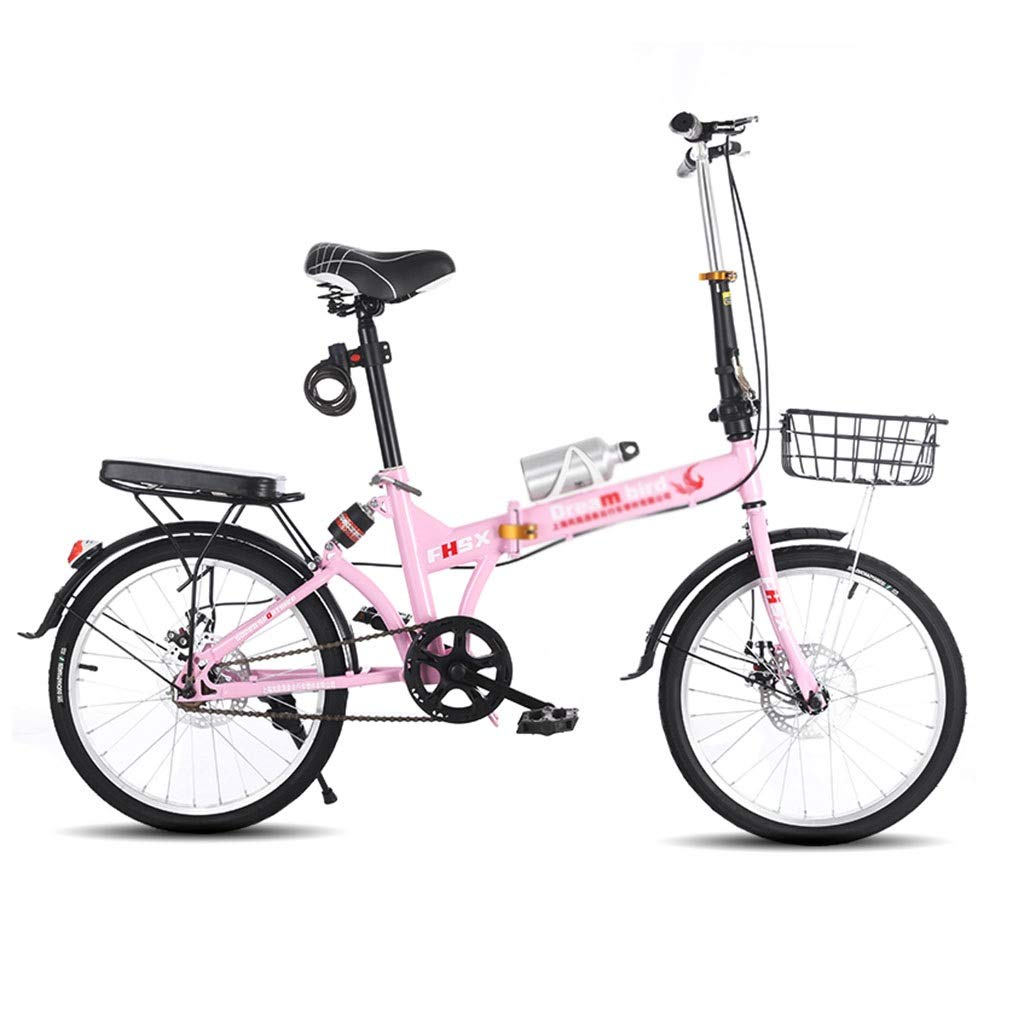【楽天カード分割】 折りたたみ自転車 : 女性の普遍的な折りたたみ自転車20インチホイール折りたたみ自転車衝撃吸収超軽量男性と女性の自転車 (Color : : Pink, Size : 150*30 150*30*100cm)*100cm) 150*30*100cm Pink B07PR42S78, ファルチェ:ecf83951 --- senas.4x4.lt