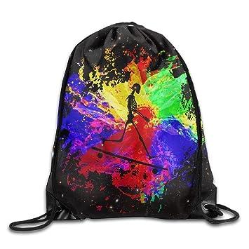 ZHIZIQIU Graffiti Art Rainbow Skateboarder Sports Bag Yoga ...