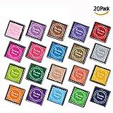 20 Colors Rainbow Finger Ink pad for Kids Craft Ink Pad Stamps Partner DIY Color 4*4 cm