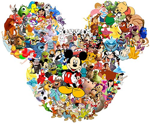(Disney Character Collage - For Light-Colored Materials - Iron On Heat Transfer 8