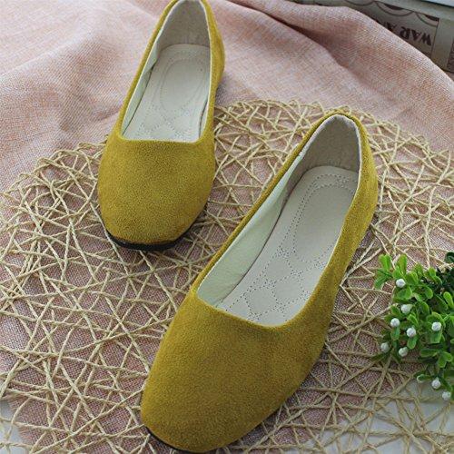 y Geométrica Mujer Zapatos Bailarinas Impresión Albaricoque Ocio Sintética Piel Básicas Planos con Moda Zapatos de OOzRrq