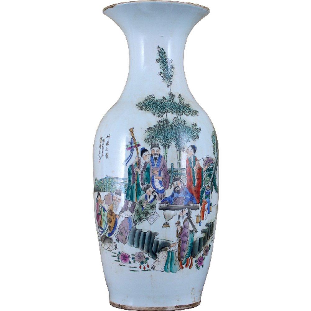 Home decor. White Oriental Vase. Dimension: 9.5 x 9.5 x 23. Pattern: Color Classic.