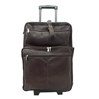 Amazon.com | Piel Leather 22 in. Wheeled Traveler - | Luggage ...