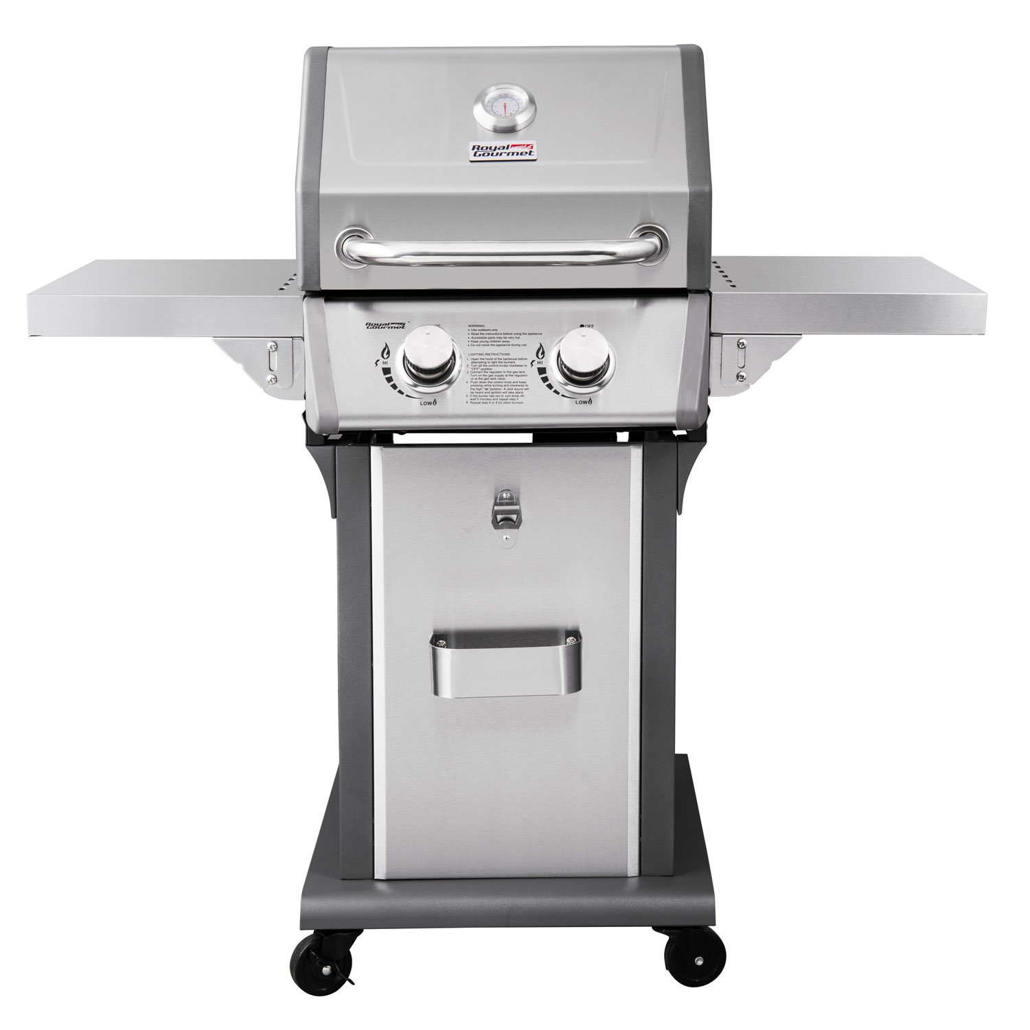 Royal Gourmet 2-Burner Patio Propane Gas Grill (Stainless Steel)
