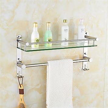 Estante para toallas estante para baño estante 304 estante para baño de acero inoxidable soporte para pared 50cm (20 pulgadas): Amazon.es: Bricolaje y ...