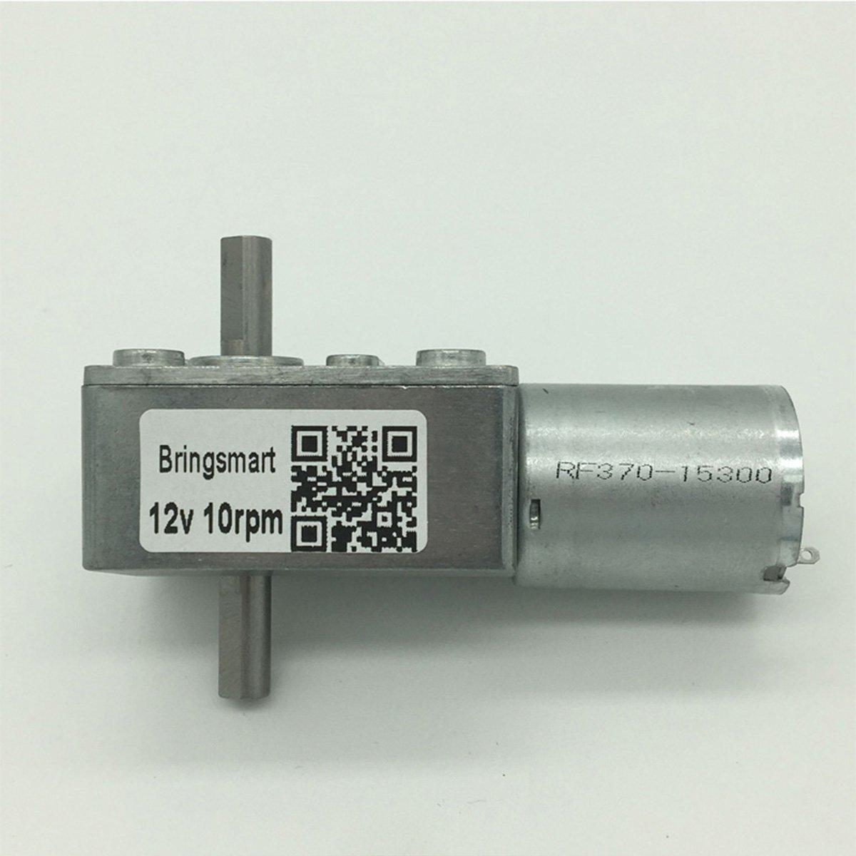 Bringsmart 6V Double Shaft Gear Motor 12V 24V DC Dual Output Shaft Reducer Self-lock (JGY-370 6V 6rpm) by Bringsmart (Image #5)