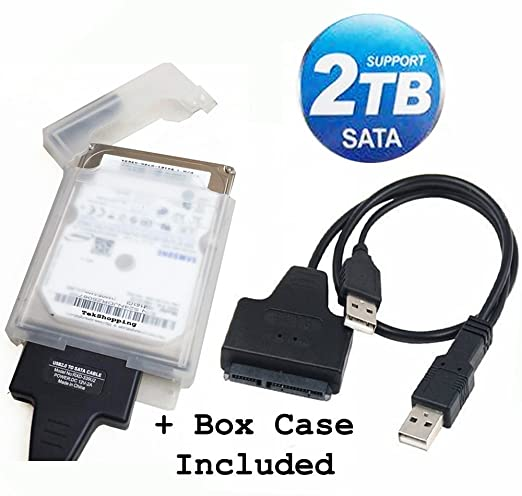 "18 opinioni per TEK® Cavo adattatore USB 2.0 a SATA Serial ATA 15+7 22P per 2.5"" HDD Hard Disk"