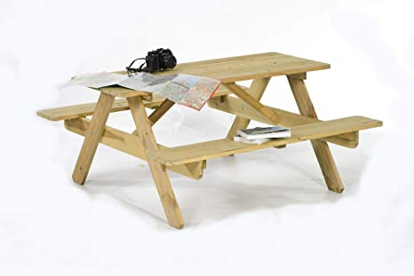 Excellent Brackenstyle Picnic Pub Bench 6 Seater Fsc Wooden Garden Patio Table Thick Timbers Gmtry Best Dining Table And Chair Ideas Images Gmtryco