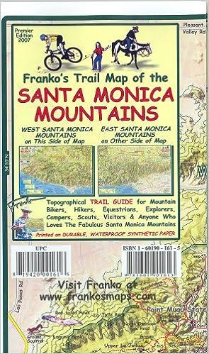 Franko\'s Trail Map of the Santa Monica Mountains: Frank M ...