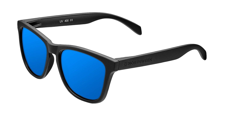 Northweek Regular Jibe - Gafas de Sol para Hombre y Mujer, Polarizadas, Negro/Azul
