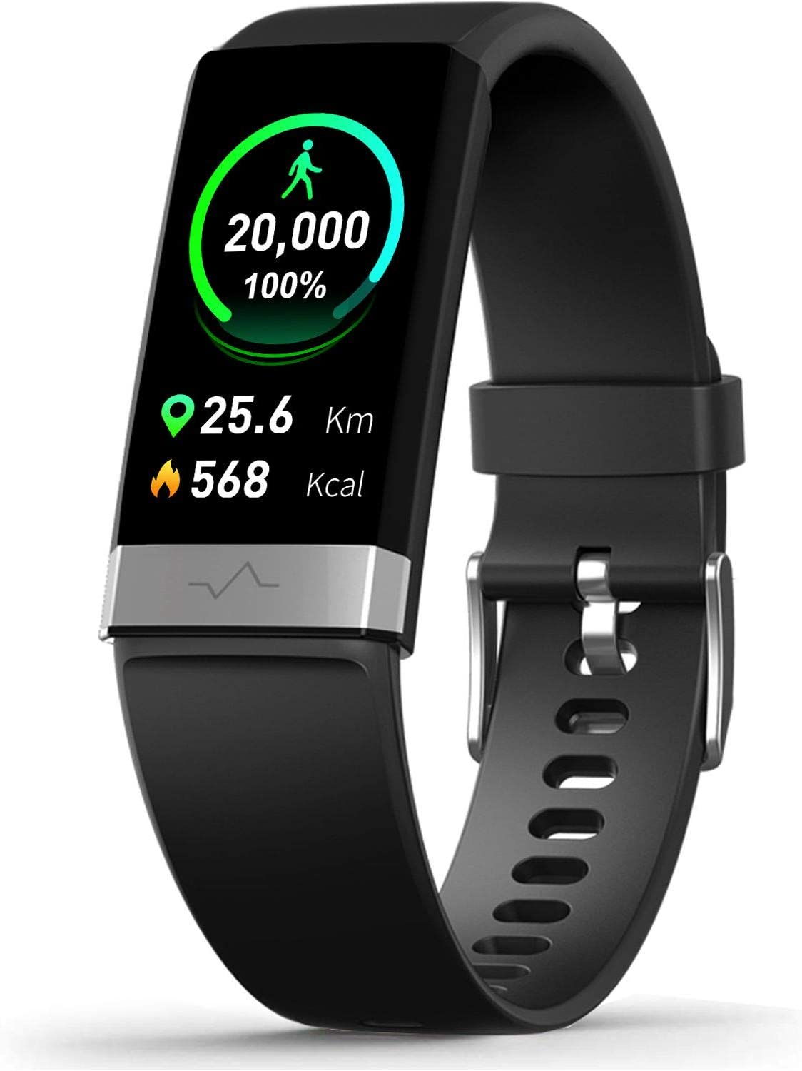 MorePro SpO2 Blood Oxygen Blood Pressure Heart Rate Monitor Waterproof Activity & Fitness Tracker Smart Watch with HRV Health Sleep Monitor Tracker for Android iOS Women Men