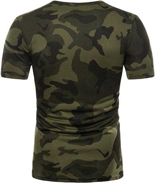 Camiseta de Camuflaje Hombre Militares Camisetas Deporte Ropa Deportiva Camisa de Manga Corta de Camuflaje Slim fit Casual para Hombres Tops Blusa ZODOF: Amazon.es: Ropa y accesorios