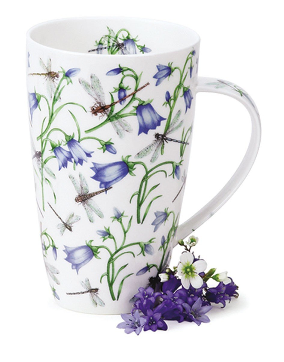 Dunoon Fine Bone China Henley Shaped Mug - Dovedale Harebell: Amazon ...