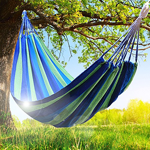 fdf92b8f6ec Wispun Two Person Camping Hammock Outdoor Swing Fabric Camping Hanging  Canvas Bed Hold up to 480LB