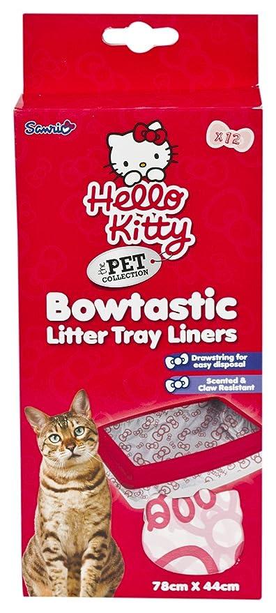 Hello Kitty Bowtastic Gato Basura Bandeja Liners