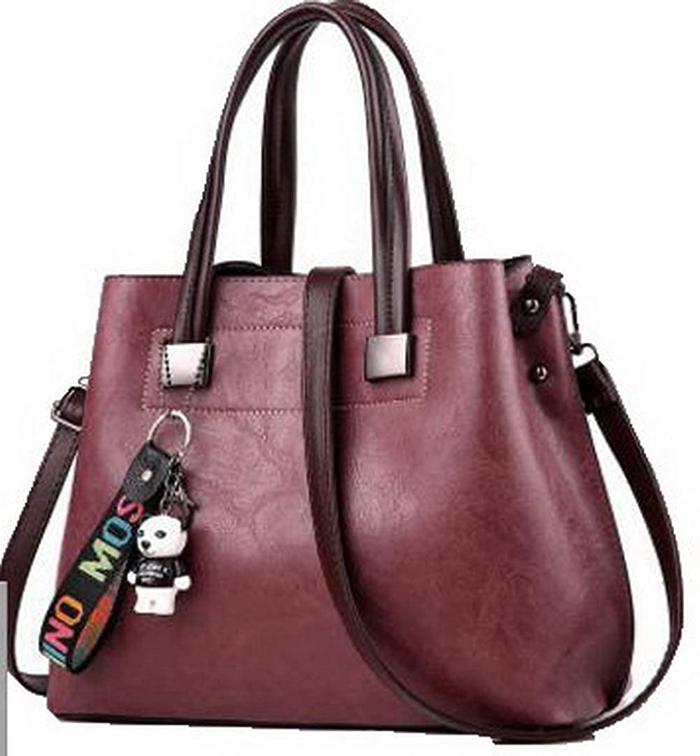 Darkpurple WeiPoot Women's Work Crossbody Bags Charms Dacron Tote Bags, EGHBG181815