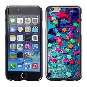 TECHCASE**Cubierta de la caja de protección la piel dura para el ** Apple iPhone 6 Plus 5.5 ** Stars Candy Decoration Design Party Colorful