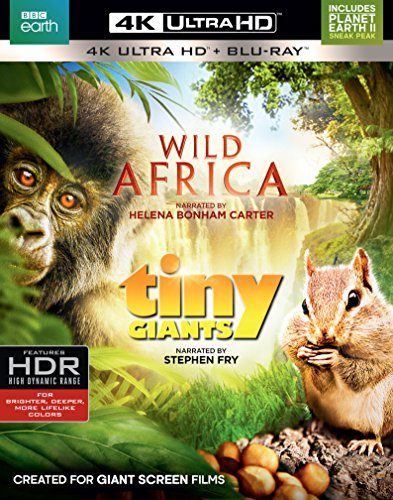 4K Blu-ray : Wild Africa / Tiny Giants (With Blu-Ray, 4K Mastering, 2 Pack, 2 Disc)