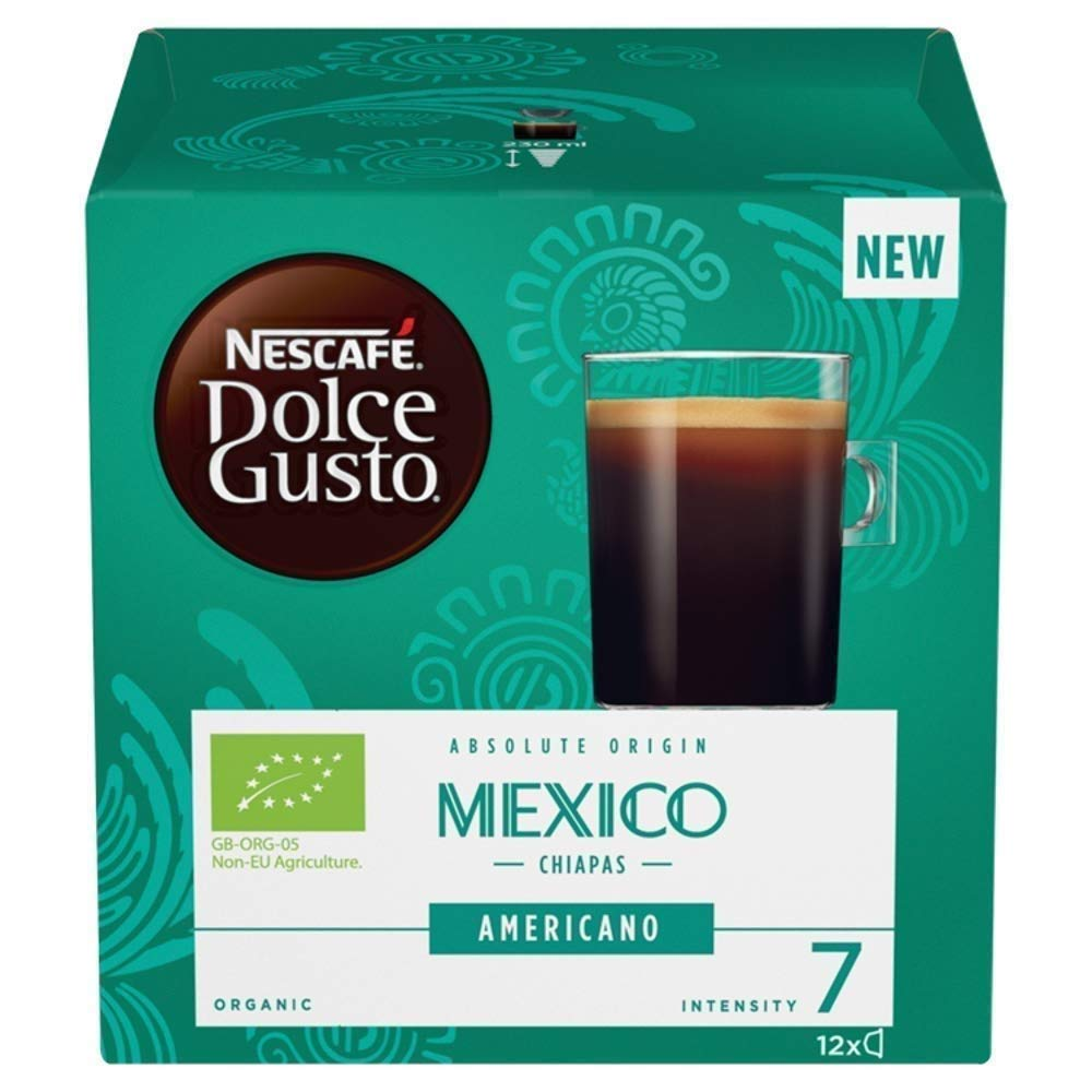 NESCAFÉ Dolce Gusto Americano Mexico Coffee Pods, 12 Capsules (Pack of 3, Total 36 Capsules, 36 Servings)