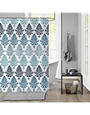 Shower Curtain Set Waterproof Fabric Bathroom Curtains Home Bath Decor with 12 Hooks 72 * 72 Inches