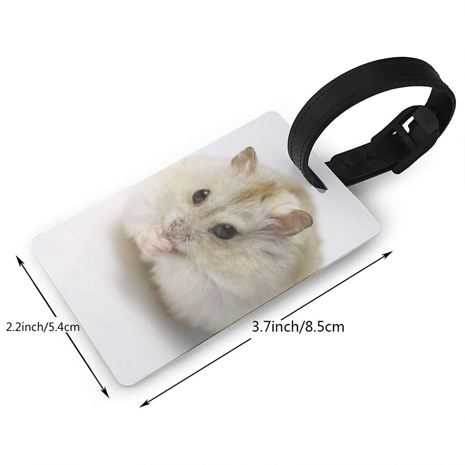 Hamster,Travel ID Bag Tag for Suitcase,Printed,Flexible PVC,Travel ID Identification for Bags Consignment Card