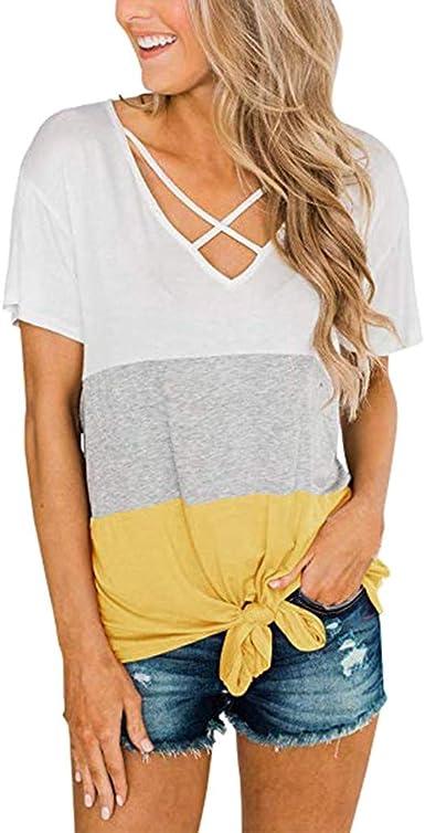 Mujer Camiseta De Manga Corta Escote Redondo Estampado Slim Fit Camisa 2019 Nuevo Camisetas de Verano Floral Tops Blusa: Amazon.es: Ropa y accesorios
