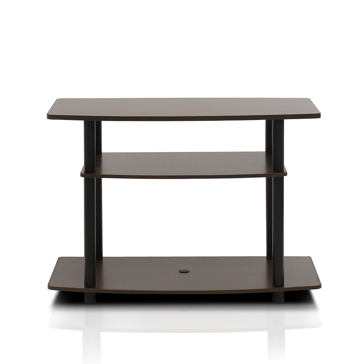FURINNO 13192EX/BK Turn-N-Tube 3-Tier TV Stand, Espresso/Black by Furinno