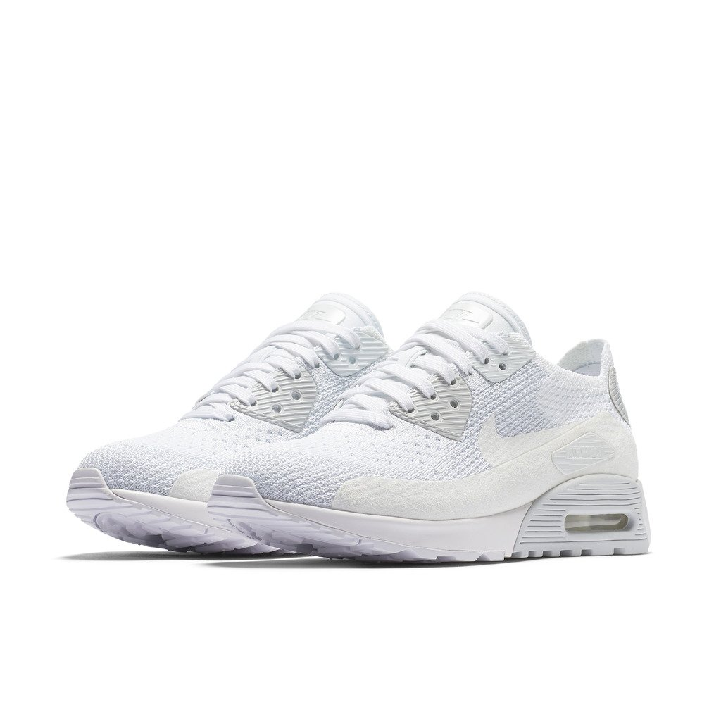 NIKE W AIR MAX 90 Ultra 2.0 Flyknit Womens Running Shoes 881109 104_5 WhiteWhite Pure Platinum