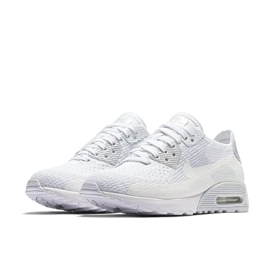 66ddbd5228 Amazon.com | NIKE W AIR MAX 90 Ultra 2.0 Flyknit Womens Running-Shoes  881109-104_5 - White/White-Pure Platinum | Road Running