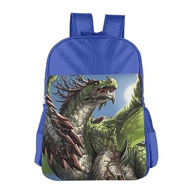 Fantasy Flying Dragon Kid s School Shoulder Backpack Bag Waterproof Children  Bookbag 557657a9a0506