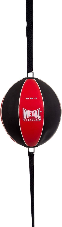 /único Negro y Rojo Bal/ón Doble el/ástico Unisex para Adulto METAL BOXE Elastic