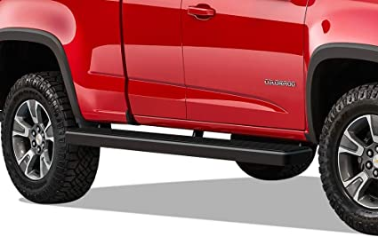 APS iBoard Running Boards Nerf Bars Side Steps Step Rails Compatible with 2015-2020 Chevy Colorado GMC Canyon Crew Cab Pickup 4-Door Black Powder Coated Running Board Style