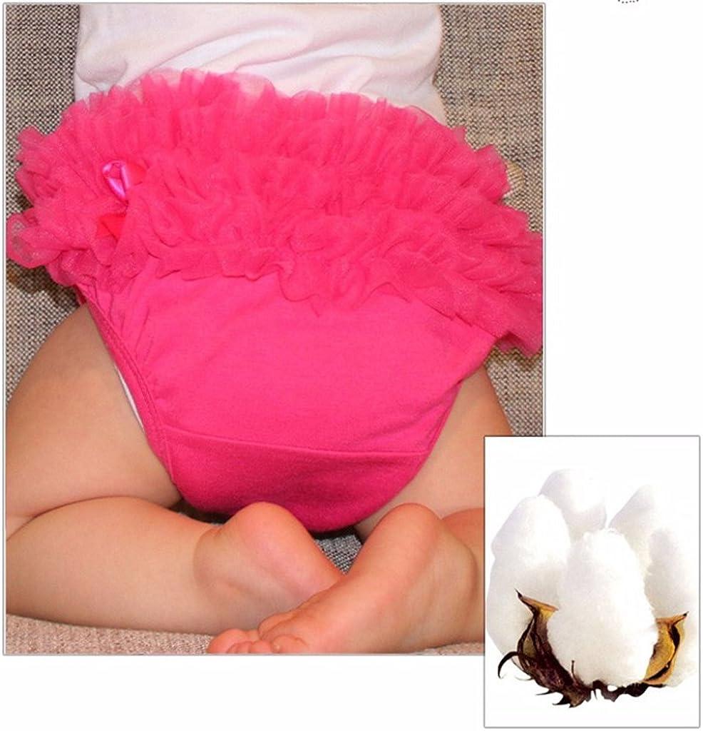 Baoblaze Baby Girl Kids Clothes Ruffle Lace Pants Pantaloncini Bloomers Pannolino Copri Pannolino