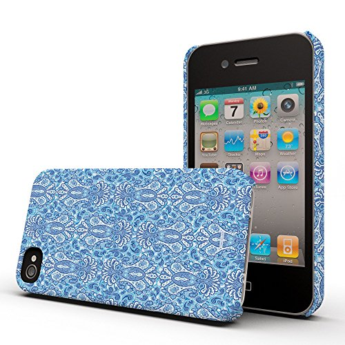 Koveru Back Cover Case for Apple iPhone 4/4S - Azure Paisley